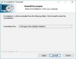 R-Undelete install/uninstall/register