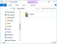 Kosz z usuniętym folderem